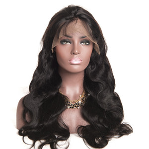 """Virgem Brazilian Body Wave Cabelo Completo Lace Wigs # 1 # 1b # 4 130% Cabelo Humano Glueless Cheio Lace Peruca Soft Wigky Wigs 10 """"-30"""""""