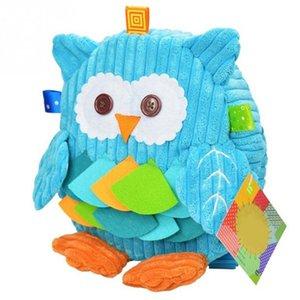 Nuevos lindos de la historieta Soft mono búho Animales Mochila juguete para los niños mochila bolsas de bebé cerrojo de felpa