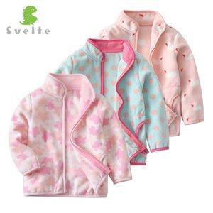 SVELTE Inverno Primavera para crianças das crianças meninas Polar Velo Jacket macio bonito Casacos Cardigan Roupa SweatshirtMX190916