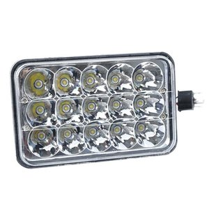45W Square LED Flood Driving Work Light Off-road IP67 6000K Fog Truck Lamp Pack of Lamp( 2Pcs 1Pc) Head Lamp