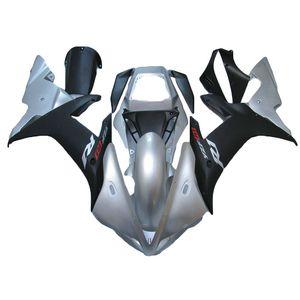 Nova ABS Mold Motorcycle Fairings Kits Ajuste para Yamaha YZF-R1-1000 2002-2003 02 03 Alta Qualidade Fairing Bodywork Prata Preto