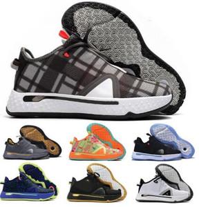 Paul George PG 4 tênis de basquete Sneakers Gatorade x NASA Zipper Zoom homem homens 4s Marinha Esportes 2020 Chegada Nova Tennis Formadores Shoes