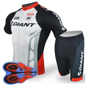 équipe GIANT Maillot cyclisme manches courtes (BIB) ensembles de shorts vélo équitation vêtements respirant vêtements d'été Ropa Ciclismo pad gel 9D zeoutdoo