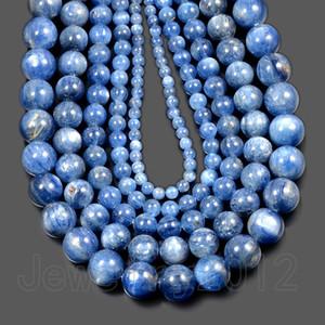 """1Strands/пакет природный голубой кианит драгоценного камня круглый лечебные бусы 4мм 6мм 8мм 10мм 15.5""""DIY ювелирные изделия оптом"""