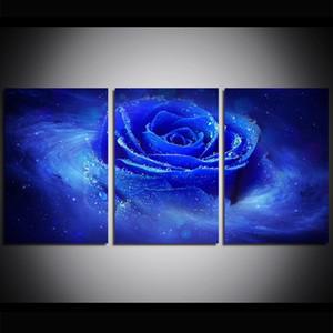 3 pezzi di grandi dimensioni tela wall art blu rosa pittura a olio di arte della parete immagini per soggiorno dipinti decorazione della parete