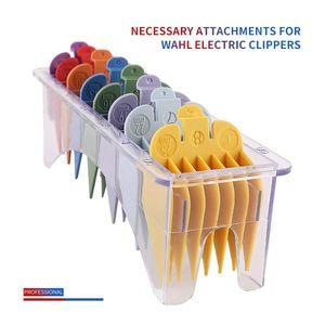 Professional Hair Trimmer limite Comb 8 Pcs Cabelo Universal limite Clipper Combs Guia Guarda Anexo Tamanho Tools Salon Styler