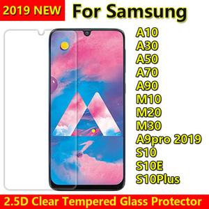 2.5D 투명 강화 유리 전화 화면 보호기 삼성 갤럭시 A10 A20 A20Core A20E A30 A40 A50 A60 A70 A80 A90 A10E A9 PRO 2019 GLASS