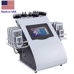 Stock en EE.UU. 6 en 1 40k Lipo Cavitación al vacío para adelgazar Máquina de pérdida de peso RF Láser Hip Levantamiento Anstromiso Instrumento de Belleza Gratis Envío