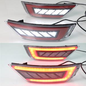 2PCS Lumière de voiture Pare-chocs arrière réflecteur Feux arrière Assemblée lampe Fog Ford Focus Hatchback Classic 2009 2010 2011 2012 2013
