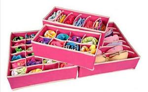 4pcs set Home Storage Socks Bra Underwear Tie Storage Boxes Closet Organizers Drawer Dividers