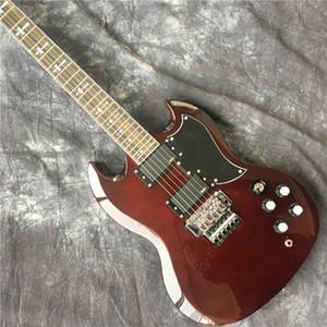 бестселлер Sg вино красное электрогитары с Floyd Rose Tremolo Sg гитары и клена Sg гитары, свободная перевозка груза