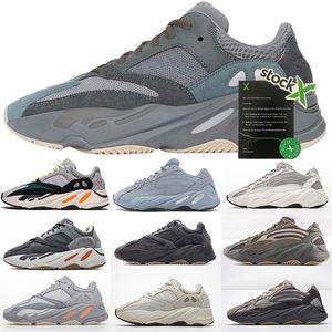 PK Versão 700 V2 Sapatos Mens Correndo Sneakers Mulheres Designer Hospital preto azul do corredor da onda Des Chaussures Scarpe Zapatos Kanye Esporte