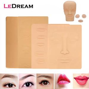 Maquillaje permanente de silicona 3D tatuaje práctica del entrenamiento en blanco falso de la piel de los labios de los ojos de la cara de la máquina del tatuaje Microblading Principiante
