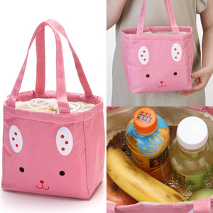 Food Storage Bag Insulated Cold Picnic Carry Case Handbag Tote Thermal Lunch Box Cute Travel Food Container
