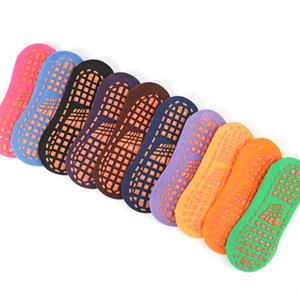 100pairs algodón cubierta antideslizante piso Calcetines adultos del color del caramelo del calcetín de Trampolín calcetines mujeres de los hombres Calcetines Yoga Zapatillas