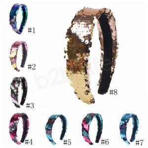 Döner Pullu Kafa Ayaklı Saç toka Glitter Saç Hairband İçin Kadınlar Kız Kaymaz Kafa Hoop Parti Favor GGA1622 Sticks çift taraflı