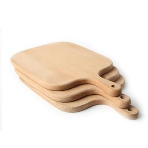 Inicio Bloque de cocina Cocina Haya Tabla de cortar Plato de la torta Bandejas de servir Plato de madera Plato Plato de fruta Bandeja de sushi Herramienta para hornear BC BH1581