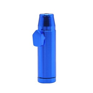Nice Colorful Bullet Shape Snuff Snorter Sniffer Powder Aluminum Alloy Portable Innovative Design Smoking Pipe Accessories High Quality