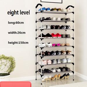 Borndo Depolama 8 Tier Ayakkabı Raf 32 Çiftleri Ayakkabı Organizatör Ayakkabı Depolama Raf Ayakkabı Kule - Gerekli Ev Bedroom için Kumaş Dokumasız yok Araçlar