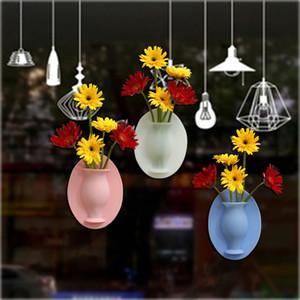 실리카 젤 꽃병 스티커 아니오 구멍 크리 에이 티브 벽 꽃 꽃병 배열 작은 장식 상투어 스티커 공장 직접 판매 9 86hy p1