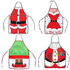 شخصية للجنسين عيد الميلاد المريلة الرجال والنساء الإبداعية مضحك الرئيسية مآزر المطبخ الجدة عيد الميلاد الديكور حزب هدايا TTA1998-2
