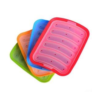 Silikon Sosis Kalıp DIY Hot Dog Ev Sosis Kutusu Bakeware barbekü Gıda Kalıp Mutfak Aksesuarları