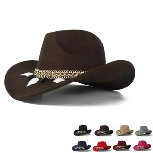 2019 Child Wool Hollow Western Cowboy Hat Girl TasselOutblack Cowgirl Sombrero Fedora Hombre Jazz Cap