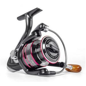 LINNHUE carrete de la pesca Todo bobina de metal de giro del carrete 8KG Max Drag acero inoxidable línea de la manija del carrete de pesca de agua salada Accesorios