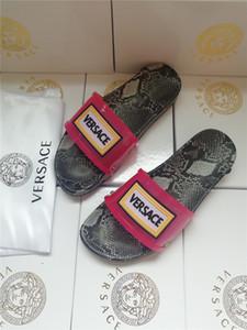 venta caliente mujeres de los hombres zapatos de las sandalias de cuero genuino Slide moda de verano plano ancho resbaladizo sandalias del deslizador del flip-flop 4 color tamaño 35-46