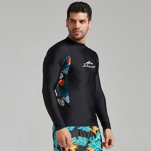 New quick-drying thin wetsuit men's long-sleeved sunscreen swimwear men's shirt split snorkeling suit