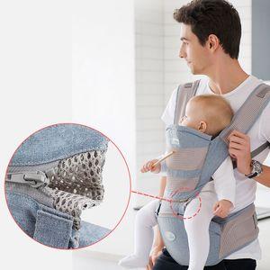 Respirável Ergonomic frente virada Baby Carrier infantil do bebê cintura Stool Hipseat Kangaroo Enrole Sling Transportadora 0-36 Meses 25KG