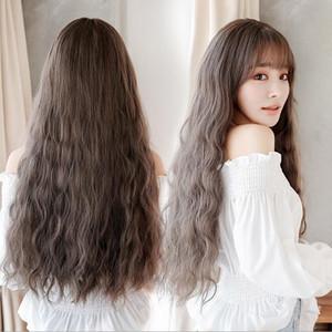 Parrucca femminile lunghi capelli ricci grande onda coreana jiafa mais moda capelli parrucca della fibra chimica caldo copricapo all'ingrosso