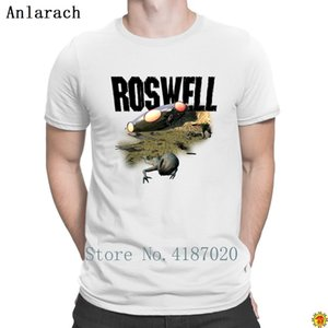Roswell V4 T Shirt Knitted 100% Cotton Spring Streetwear T Shirt For Men Stylish Loose New Style Anlarach Letters