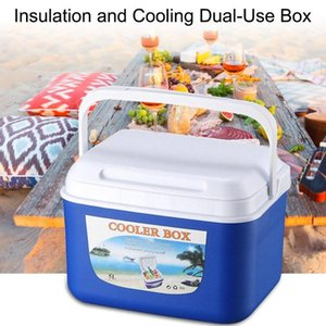 Portable 5L Outdoor Car Insulation Cooling Dual-use Box Incubator Storage Cold Box Fishing Cooler Picnics Fishing