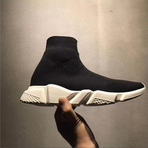 Cheap Luxury Sock Speed Trainer High Quality Designer Sneakers Speed Runner all black men and women sports shoes Size EUR 36-45