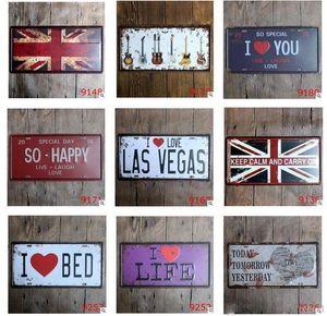 30 * 15 CM Vintage Tin Plaques en métal Bière décorative plaque d'immatriculation Café Tin Sign Accueil Pub Bar Mur affiche Bar Signes Tin Peinture Métal DHF45