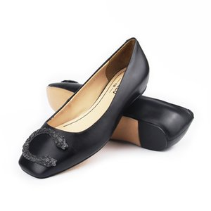 Vallu 2020 nuevo tótem hebilla zapatos planos de la boca baja de cuero completo al aire libre informal