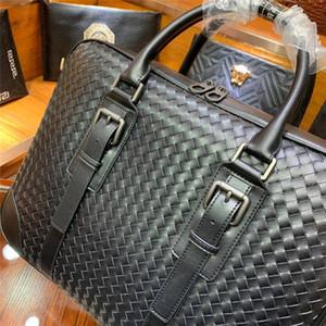 Дизайнер-Hand дизайнер трикотажного бренда портфели новые деловые сумки прибытия высокого качества для мужчин натуральной кожи бизнес сумок для ноутбуков