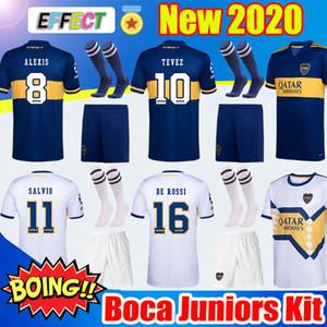 Nova 2020 Boca Juniors Futebol Casa Fora 20 21 Boca Adult Kit Jersey GAGO CARLITOS DE ROSSI TEVEZ PAVON Crianças Socks camisas de futebol
