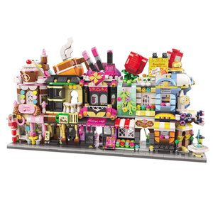 Building Blocks Toys LOZ Small Particles Diamond Spelling Toys Mini Street Scene Toy for Big Kids toys children gifts