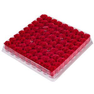 En gros 81pcs / Boîte À La Main Rose Savon Fleurs Séchées Artificielles Fête Des Mères De Mariage Saint Valentin Décoration De Cadeau De Noël pour la Maison