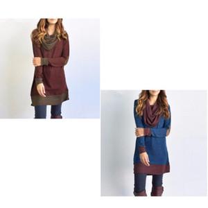 Широкий воротник с длинным рукавом Удобная Женщины Платья Мода колющие Одежда Soft Ретро Elegent Одежда Горячие 27sj Продажа Ww