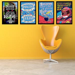 Motivasyon Alıntılar Wall Art Poster Office sınıf Ev Dekorasyonu Boyama Ofis Poster İlham Alıntı Silk yazdır