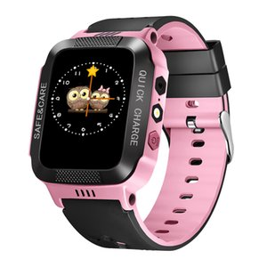 Y21 Children Smart Watch Camera Lighting Touch Screen SOS Call LBS Tracking Location Finder Kids Baby Smart Watch