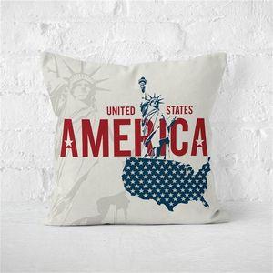 45 * 45cm Amérique Independence Day Décoration Sofa Linge Crushion Bureau Taie d'oreiller sans intérieur Taie seulement