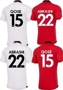 19-20 Mens Albanien Fußball Jersey, hochwertiges Fußballhemd 4 HYSAJ XHAKA 14 QOSE 15 Balaj 19 ismajli 16 Trikots Uniformen, Gewohnheit Jersey