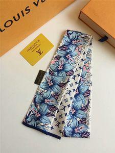 Прекрасные дамы весной и летом шарфа простого письмо цветочного узор размера лента 120 * 8 см шарф без коробки