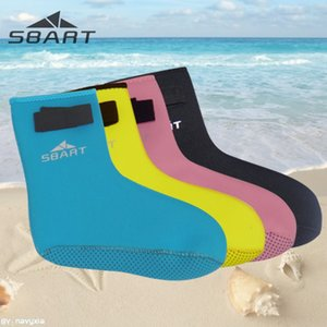 Adult Beach equipment Water Sports Booties Thick Nonslip Sole Diving Booties Diving Socks with Velcro Closing sbart 3mm Adult