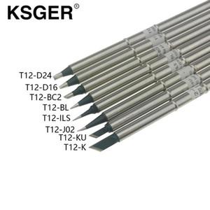 KSGER T12-BC2 K ILS J02 KU BL D16 D24 XA-Sınıf Havya İpucu için Hakko FX951 T12 Lehimleme İstasyonu OLED Dijital Kontrolör