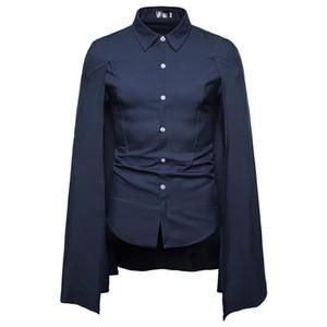 Shirt semplice stand collare commercio maniche lunghe 2020 Primavera Autunno Uomini Stilisti Uomini Format